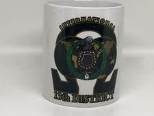 White 13th District Omega Mug - click to view details