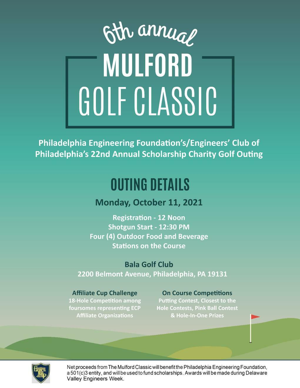 2021 Golf Outing Flyer