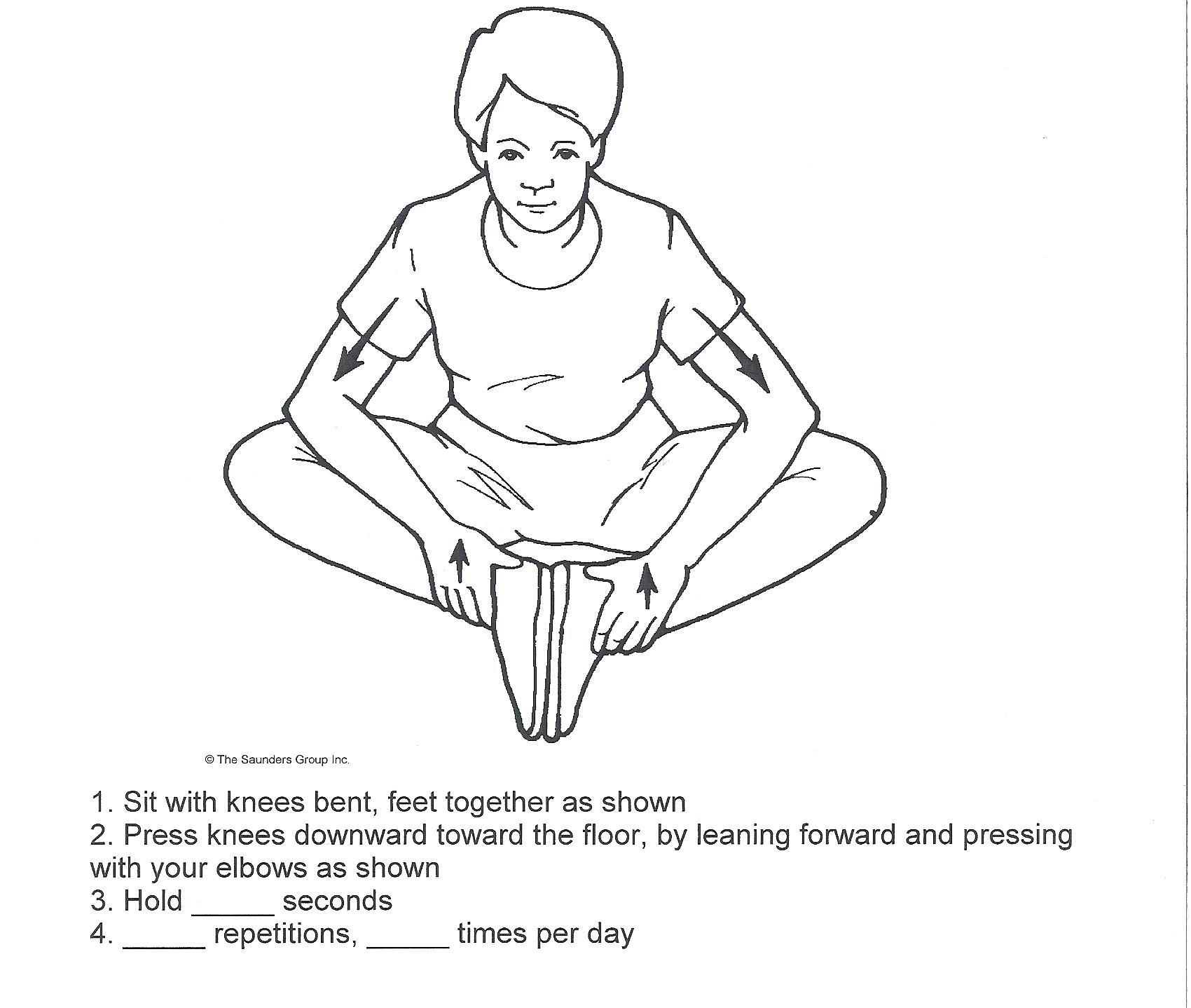 Hip adductor stretch