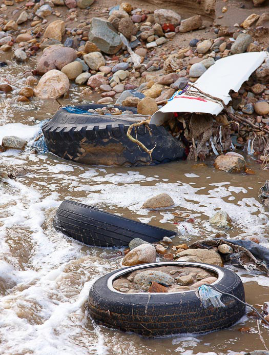 Tires in River