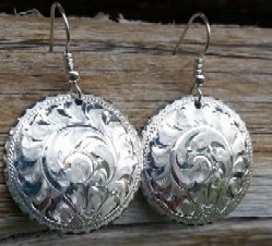 free give away silver earrings