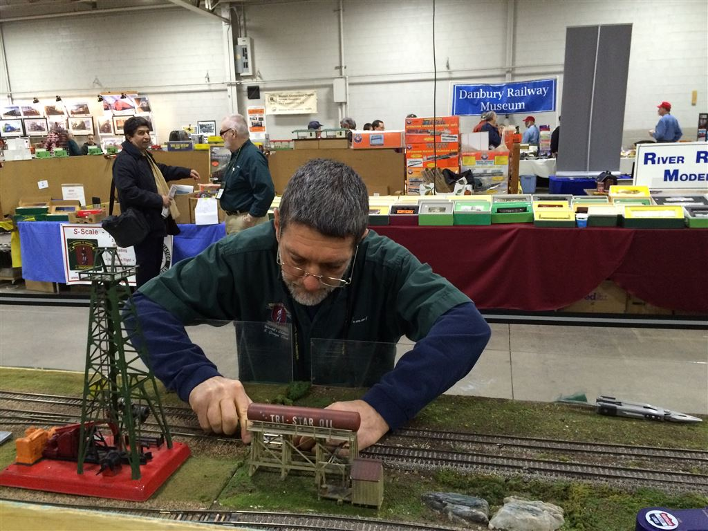 Bristol Club layout at the 2016 Amherst Railroad Society show in West Springfield, MA