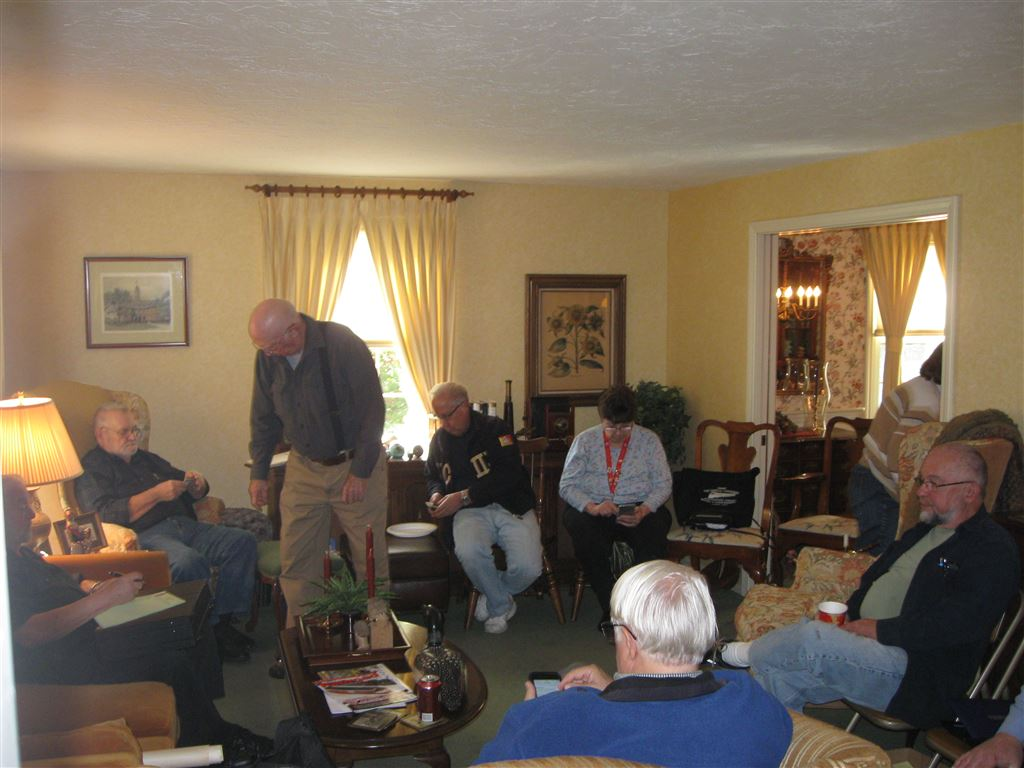 BSGR Club Meeting at Phyllis and Rob Sieger's, Oct 15. 2016