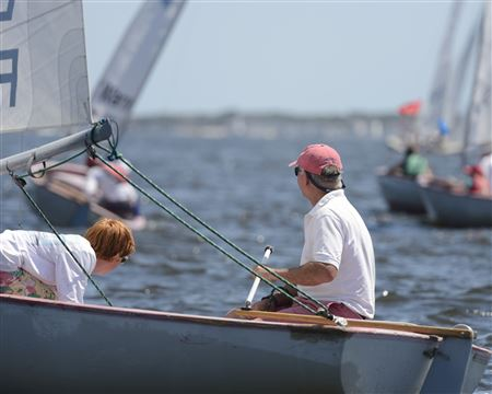 Scenes from the team race regatta between IHYC and TRYC
