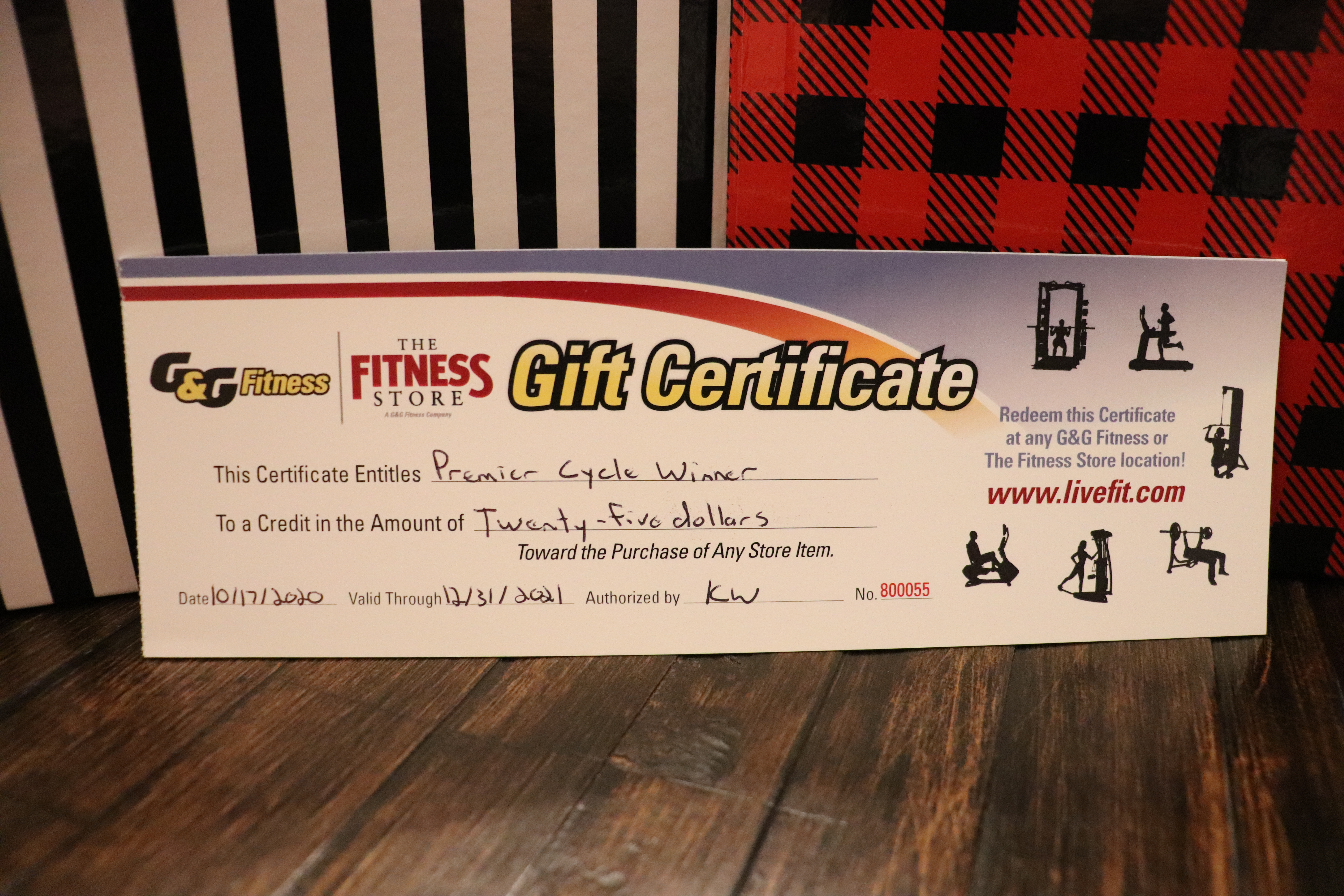 G&G Fitness gift cards 2020