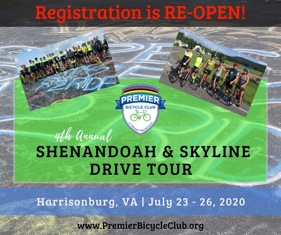 2020 Shenandoah & Skyline Drive Tour is on again