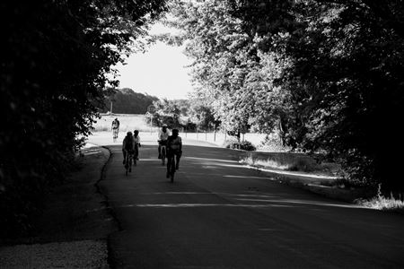 Riders near Engels and Factly Roads