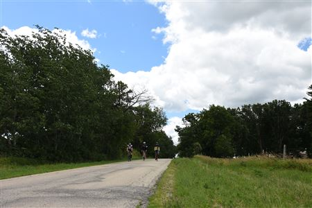 Riders along Percy Road