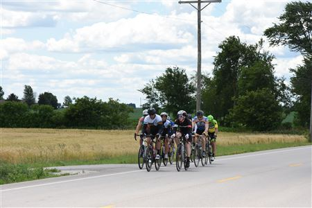 Riders along County Line Road