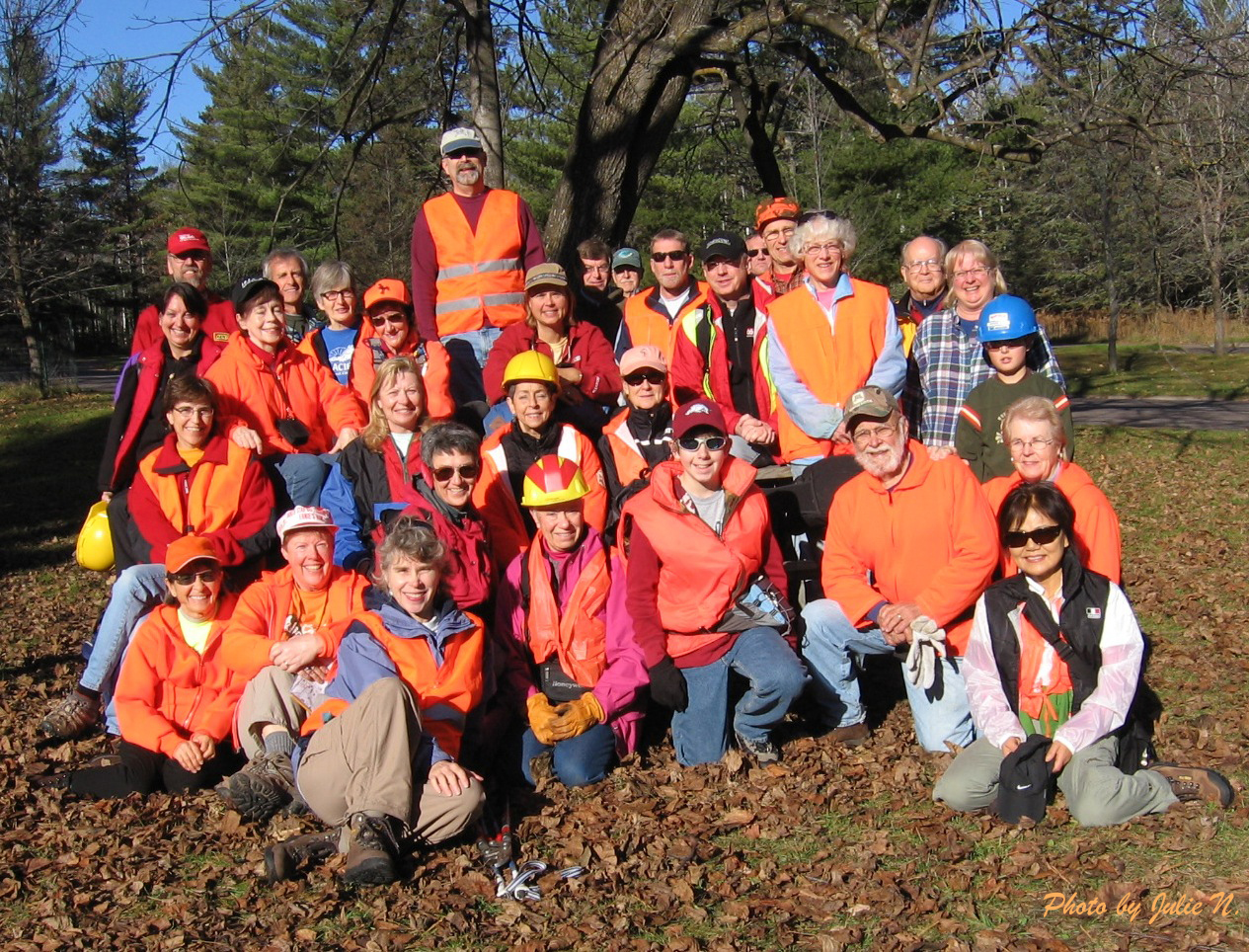 Trail Clearing Crew at Jay Cooke State Park
