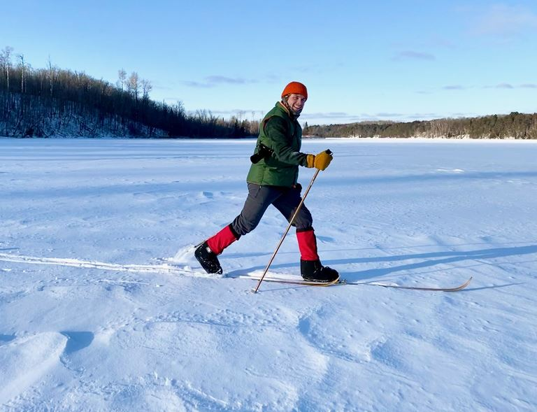 Skiing in the Chippewa National Forest, near Northome, MN