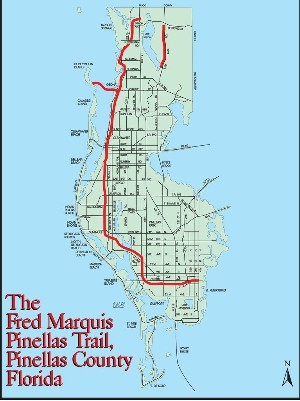 Pinellas Trail Map