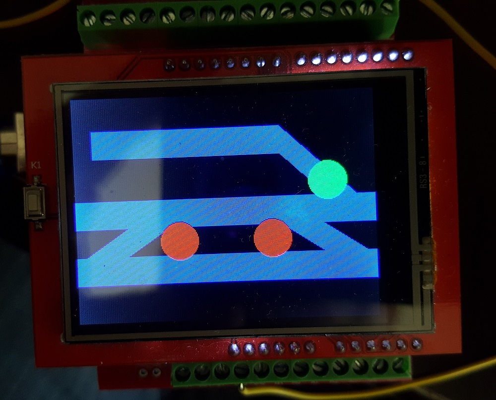 Arduino-based touch screen turnout control - Will County
