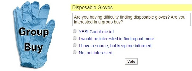 Disposable Gloves - Group Buy?