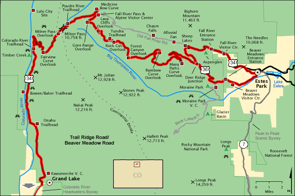Trail Ridge Map