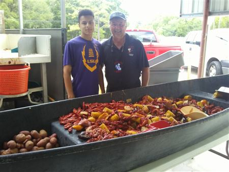 Great time, delicious crawfish and other foods.  Lot's of Corvette family enjoying the day together.