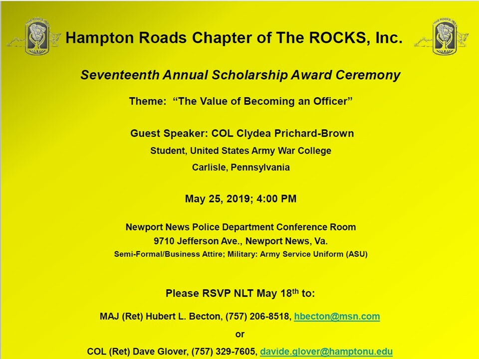 HRC ROCKS, Inc. 17th Annual Scholarship Award Ceremony