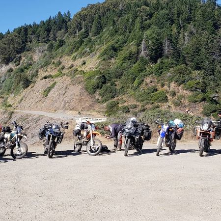 Lost Coast ADV/DS Ride 8/31-9/2/1910 Riders 3 day moto camping trip.