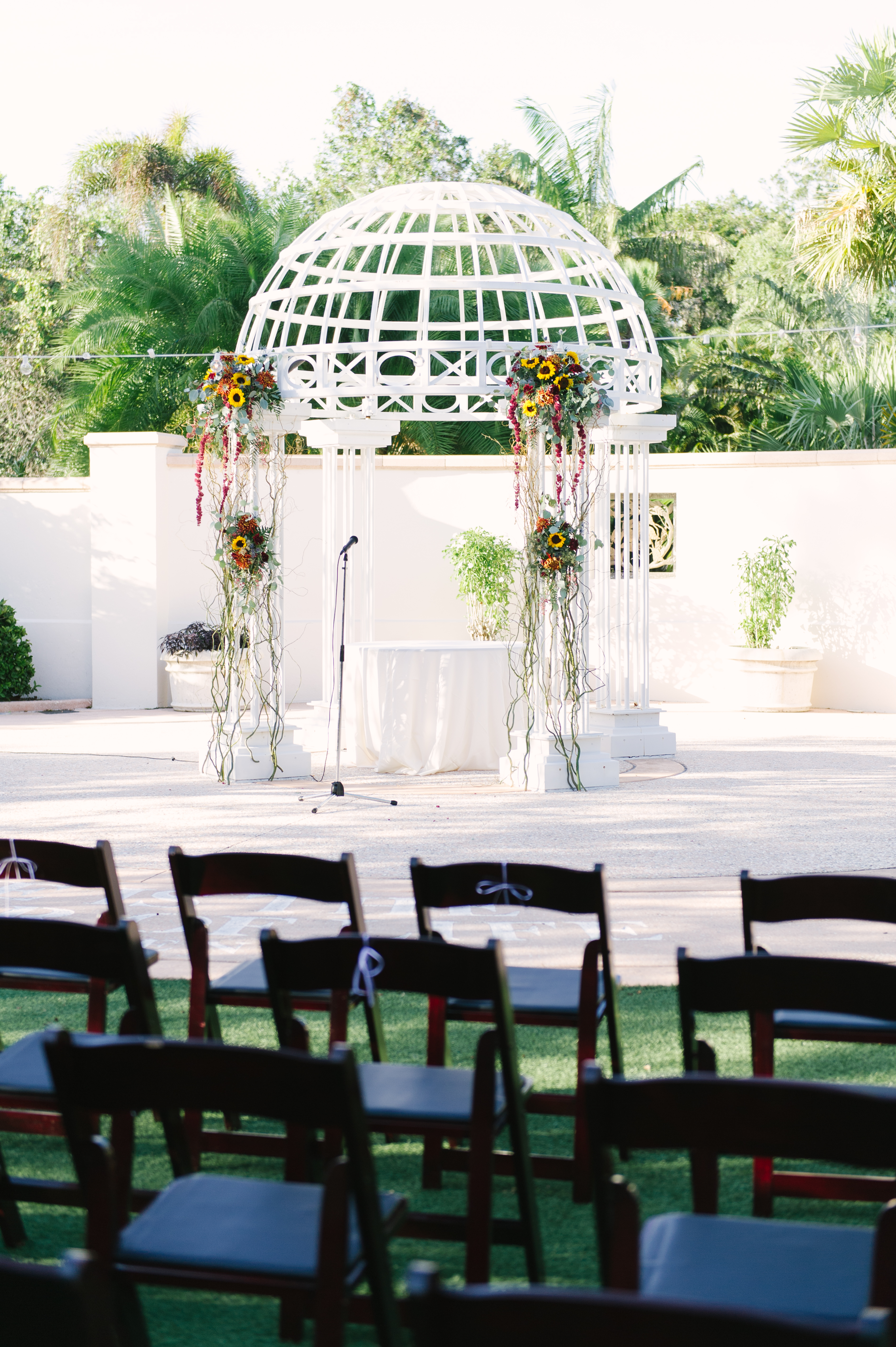 Gazebo in the Wedding Garden