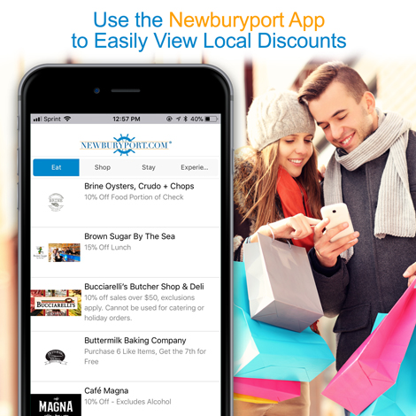 View Discounts with The Newburyport App