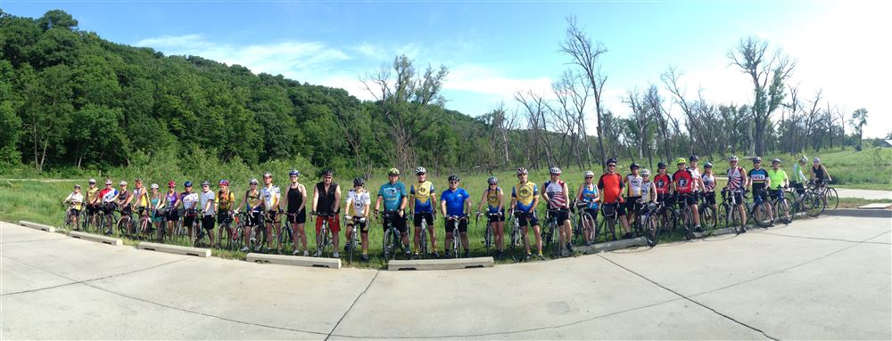 NP Dodge Park to Ft Calhoun, 39 strong, beautiful day for a ride! Thanks, Linda Vidas, Ride leader!