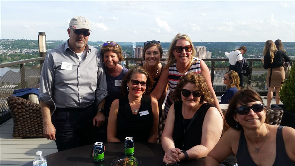 From the Paralegal Day Cocktail Party on May 21, 2018 on the KMK rooftop.