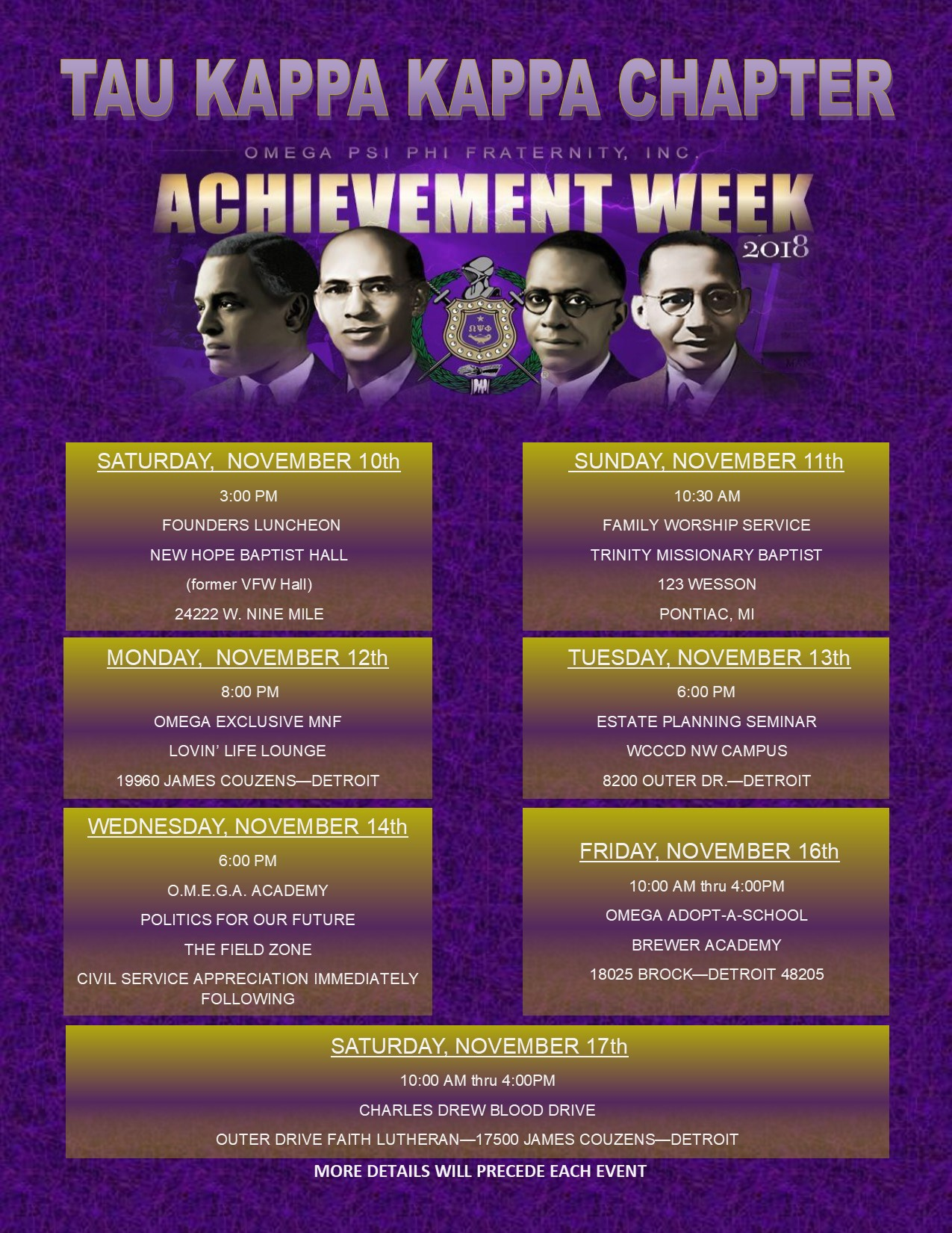 2018 Achievement Week