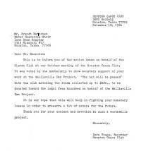 1986 Nov Sierra Club Response