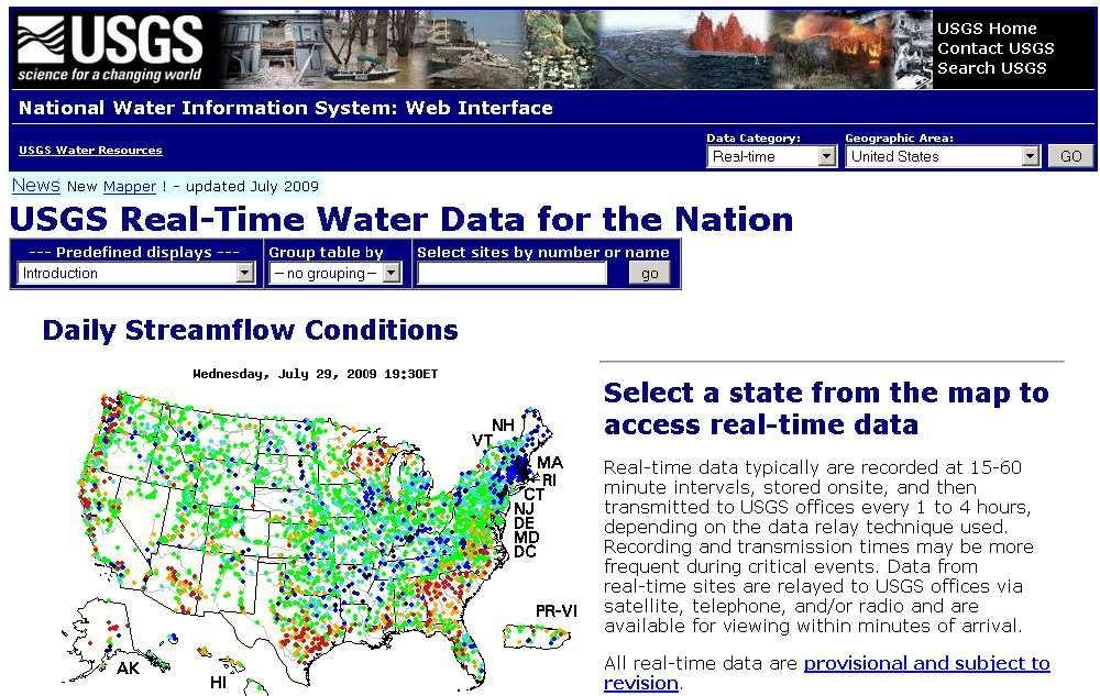 USGS Water Gauges - Houston Canoe Club