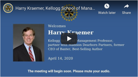Harry Kraemer Video