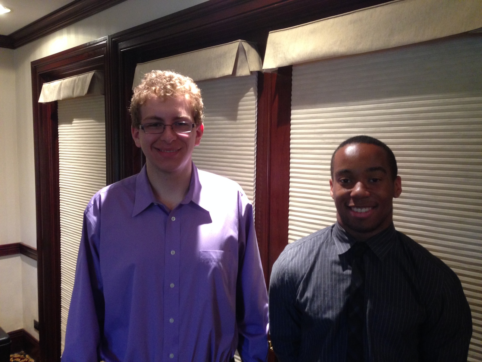 Rashad Crosby and Andrew Trzeciak - Scholarship Winners 2014