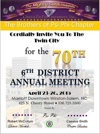 6th District Annual Meeting 2015