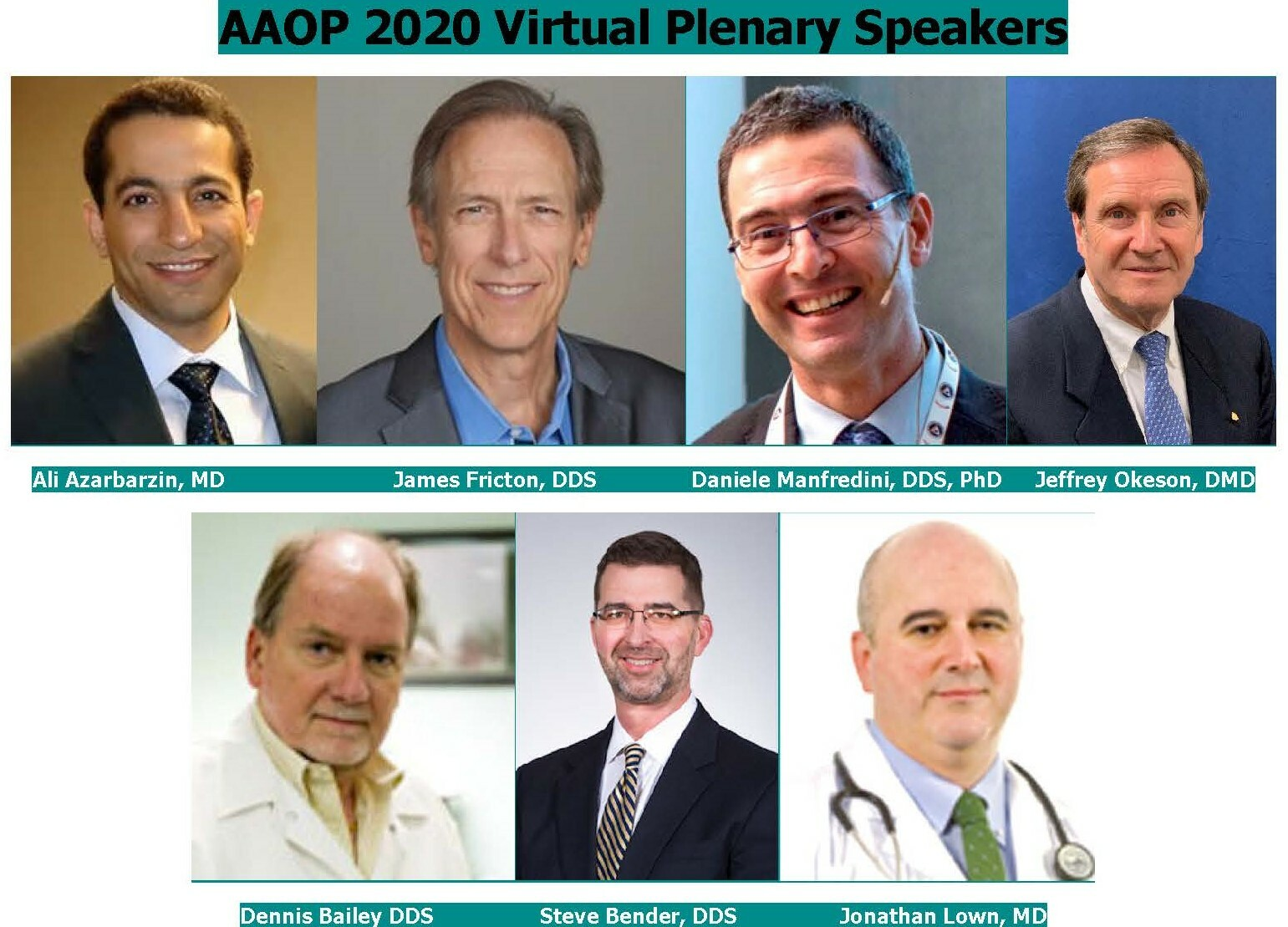 AAOP 2020 Virtual Speakers