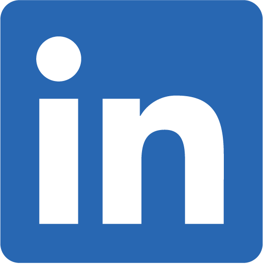 LinkedIn logo with profile link
