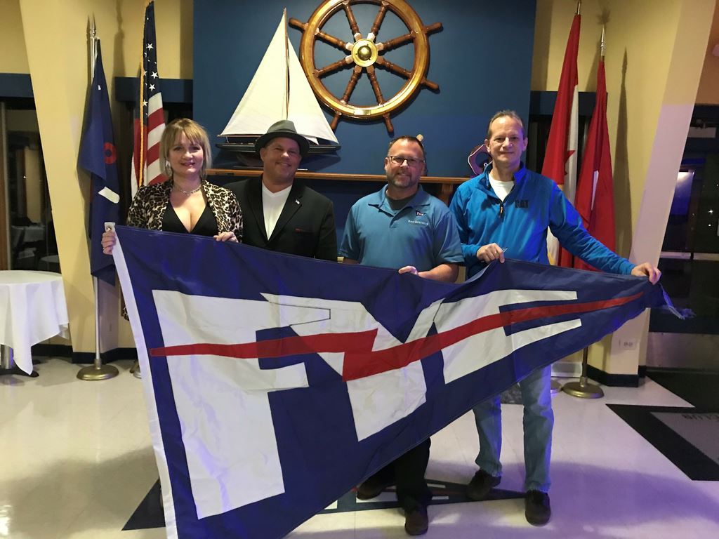Power Fleet does Burgee exchanges each year to promote Club camaraderie.