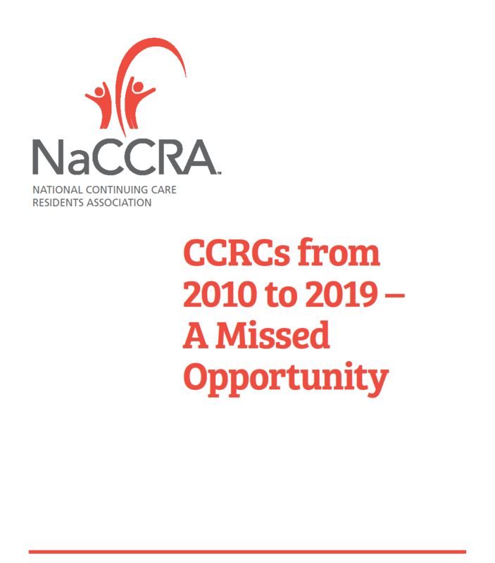 CCRCs 2019 to 2020