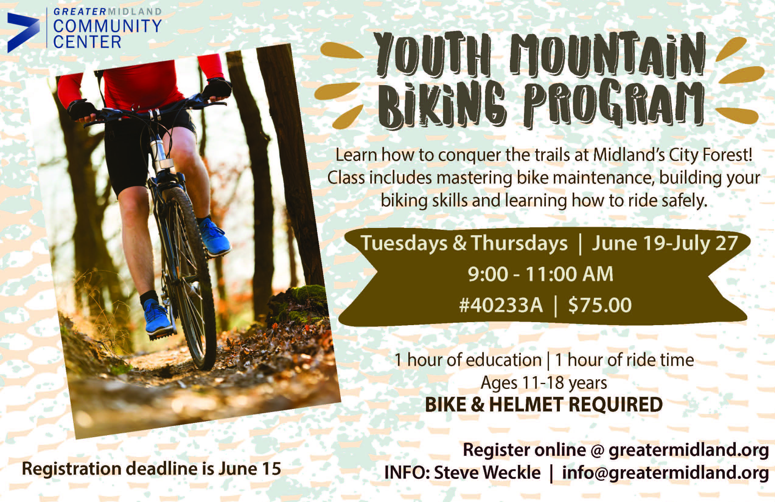 Youth Mountain Bike Program