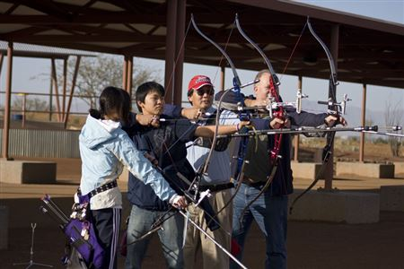 The first Paseo Archery Club Practice