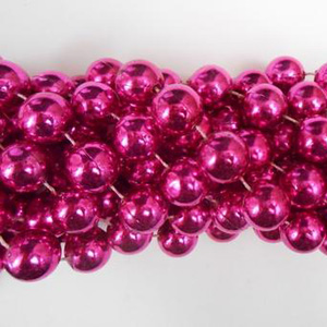 12mm x 48in Hot Pink Beads
