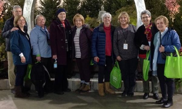 Early Morning Tour of Philadelphia Flower Show led by EFV member Margaret Sadler