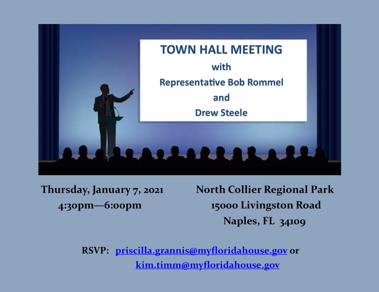 Rep Rommel Town Hall Announcement