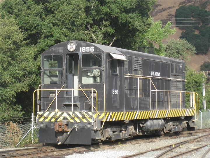 Pacific Locomotive Association has a large collection of vintage diesel locomotives.