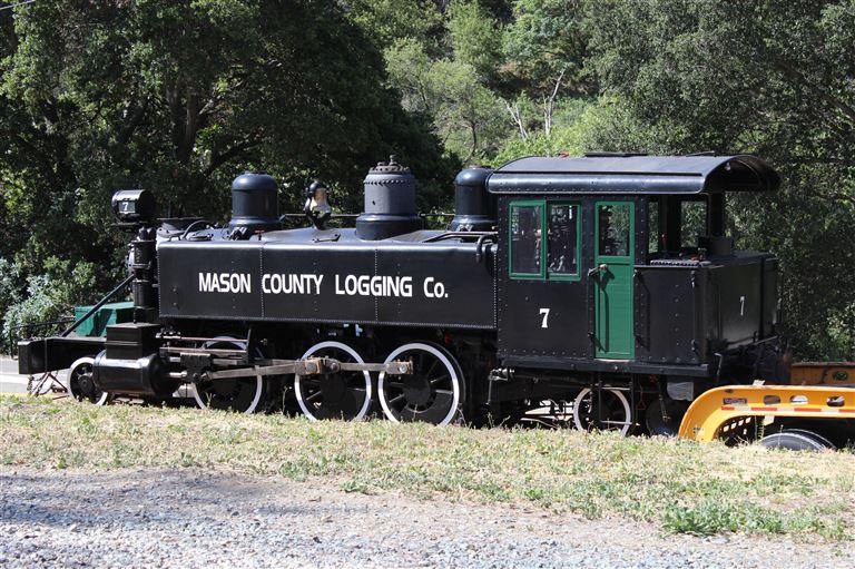SteamFest 2014 at the Niles Canyon Railway. We start with the unloading of Mason County Logging Co. #7, a Baldwin 2-6-2T from Roots of Motive Power in Willits, CA.