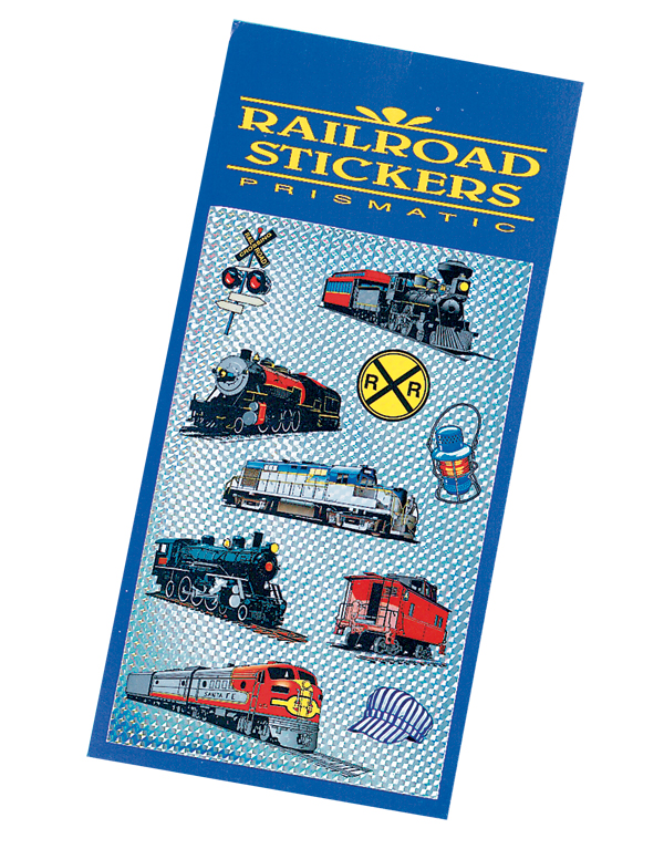 Collectable, 3D Prismatic Railroad Stickers
