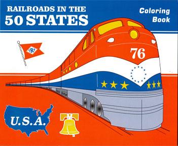 Book, Children's, RRd's - 50 States Coloring Book