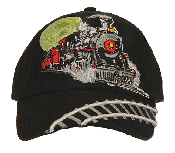 Cap, kids, black, embroidered steam