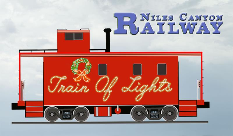 Magnet, Train of Lights Caboose Logo