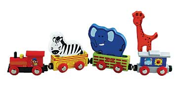 Toy, Wooden, Animal Train Set