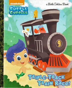 Book, Children's, Triple Track Train Race