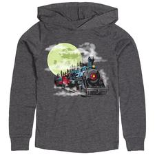 Shirt Y, LS Hoody, Moon Train, Gray, Medium - click to view details